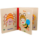 factory educational toy 3d puzzle book wooden puzzle
