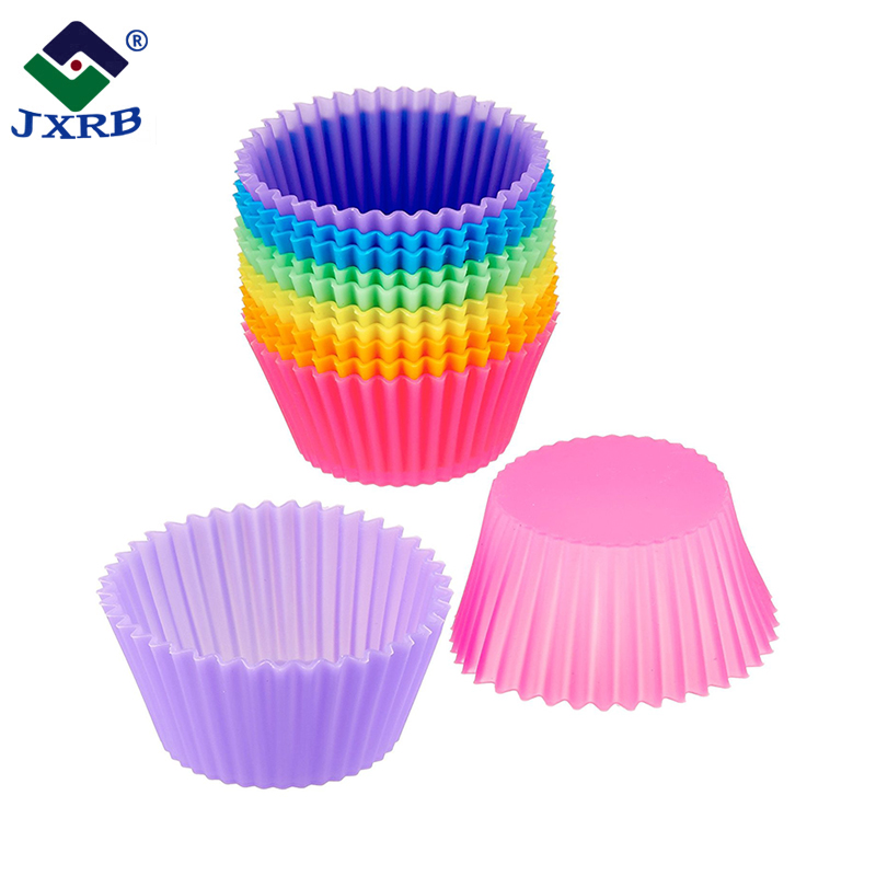 Horno de microondas pastel hornear mini moldes taza Paquete de silicona tulip Copa muffin