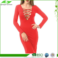 High quality cheap oem t-shirt long bodycon dress
