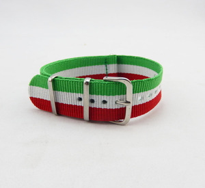 Italy flag style watch bands, 24mm Rhino nato nylon watch strap
