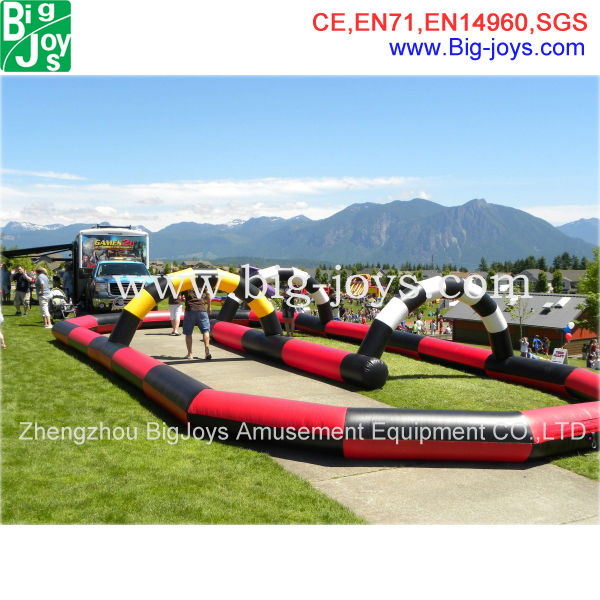 cheap inflatable kart track, inflatable go kart race track with blower