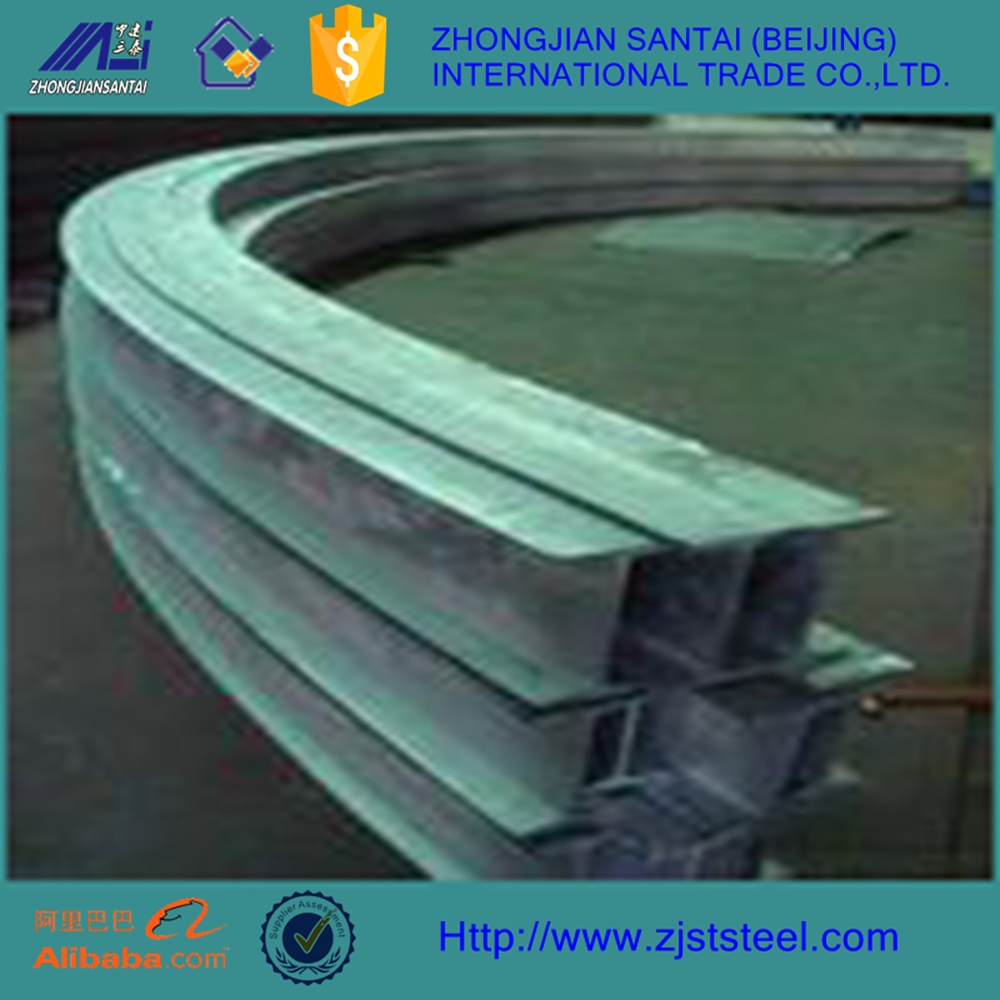 galvanized steel beam jis ss540 curved profile h beam