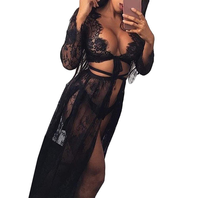 34294710b5 Sexy Lingerie Fashion Women Girls Sexy Lace Babydoll Bandage Skirt Lingerie  Sunscreen