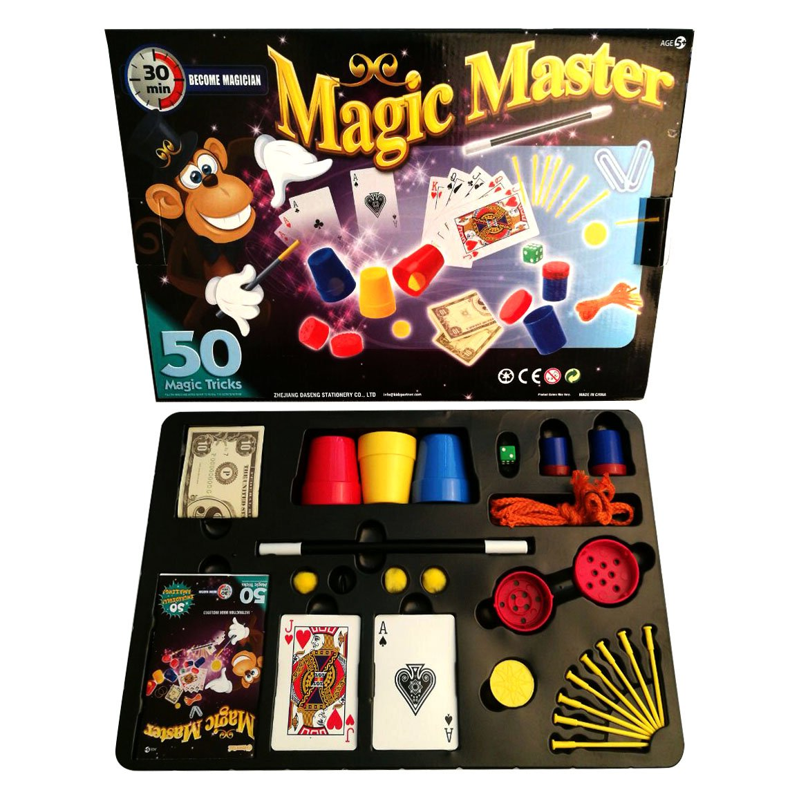 aGreatLife Magic Master Show Suitcase: Best Mind Blowing Magic Kit with 50 Spectacular Magic Tricks for Kids and Grown-Ups Alike