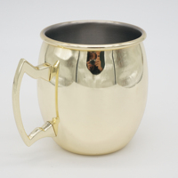 wholesale best selling 17oz copper moscow mule Gold Plated mug