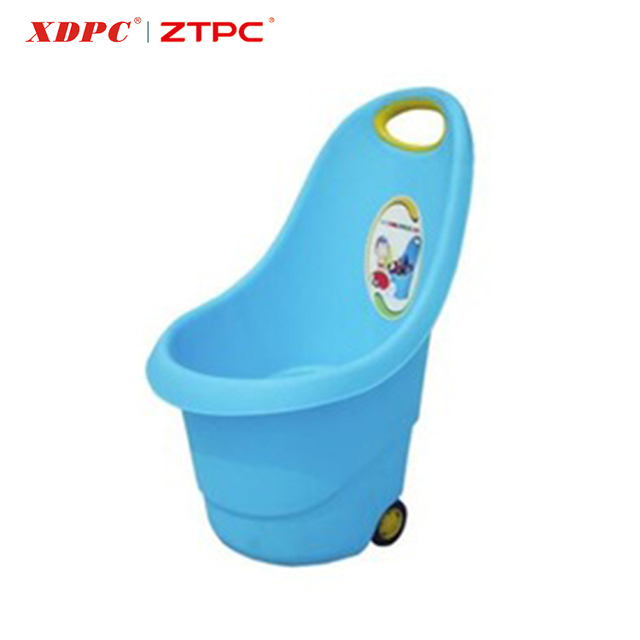 New Design Portable Kidu0027s Plastic Storage Dolly Garden Cart With Wheels