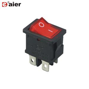 KCD1-201N-4 ON-OFF 220V illuminated 4 PIN lamp rocker switch