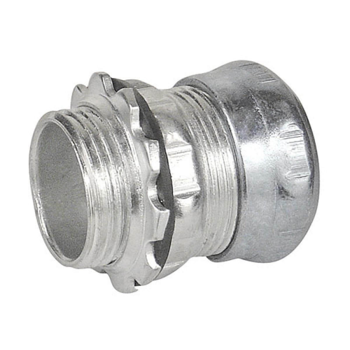 3//4 Trade Size Steel Insulated Throat Morris Products 14981 EMT Rain Tight Compression Connector