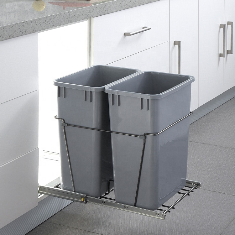 Guiding Kitchen Pull Out Waste Bin