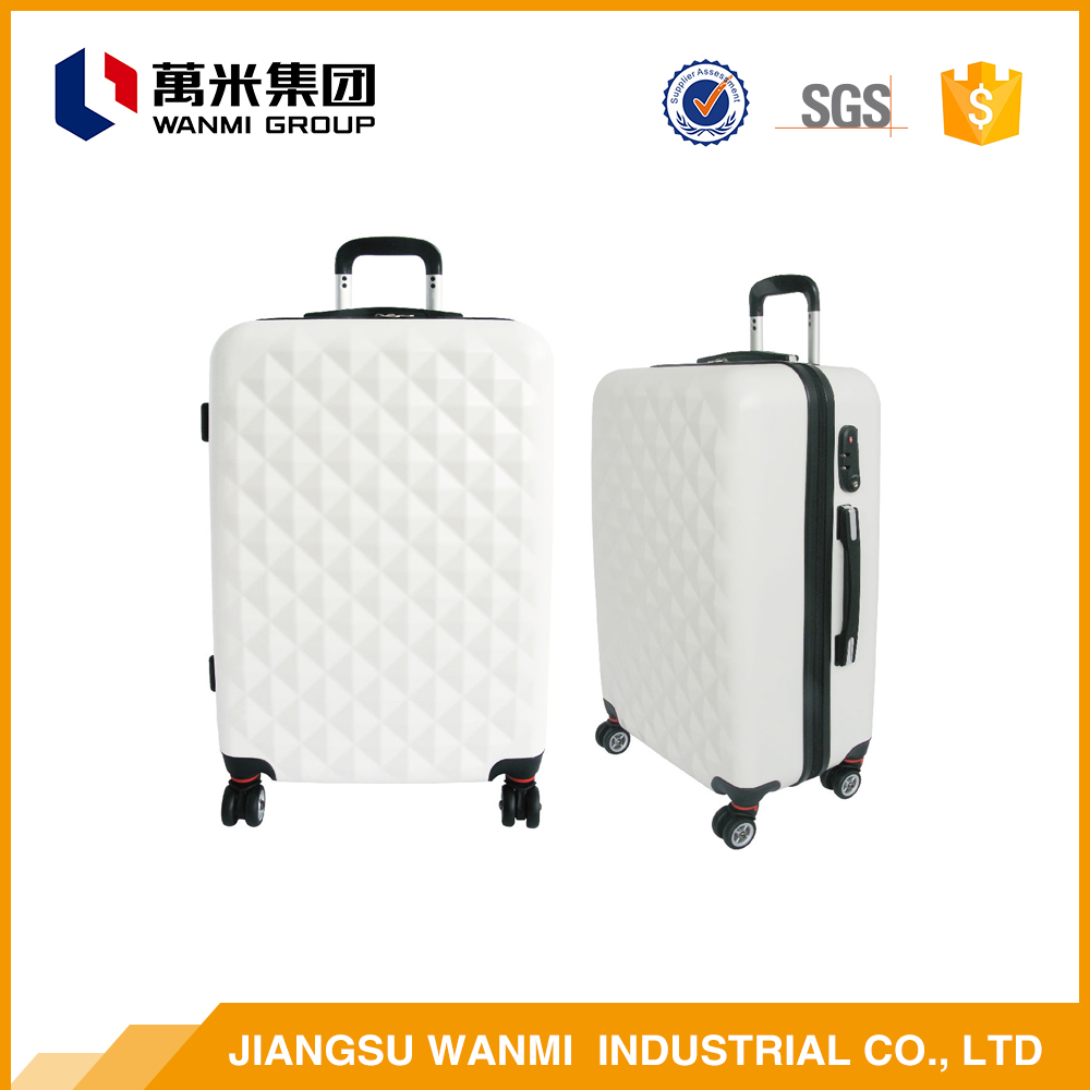Low price new year smooth abs travel luggage trolley bags sets