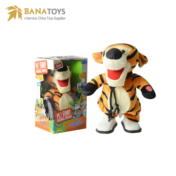 Tiger plush doll stuffed animal baby toys musical