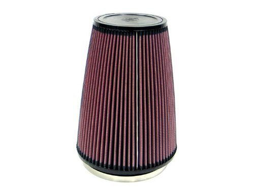 K&N RU-3280 Universal Clamp-On Air Filter: Round Tapered; 6 in (152 mm) Flange ID; 10 in (254 mm) Height; 7.5 in (191 mm) Base; 5 in (127 mm) Top