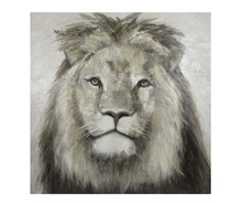 Neutral Color Textured Africa Animal Painting