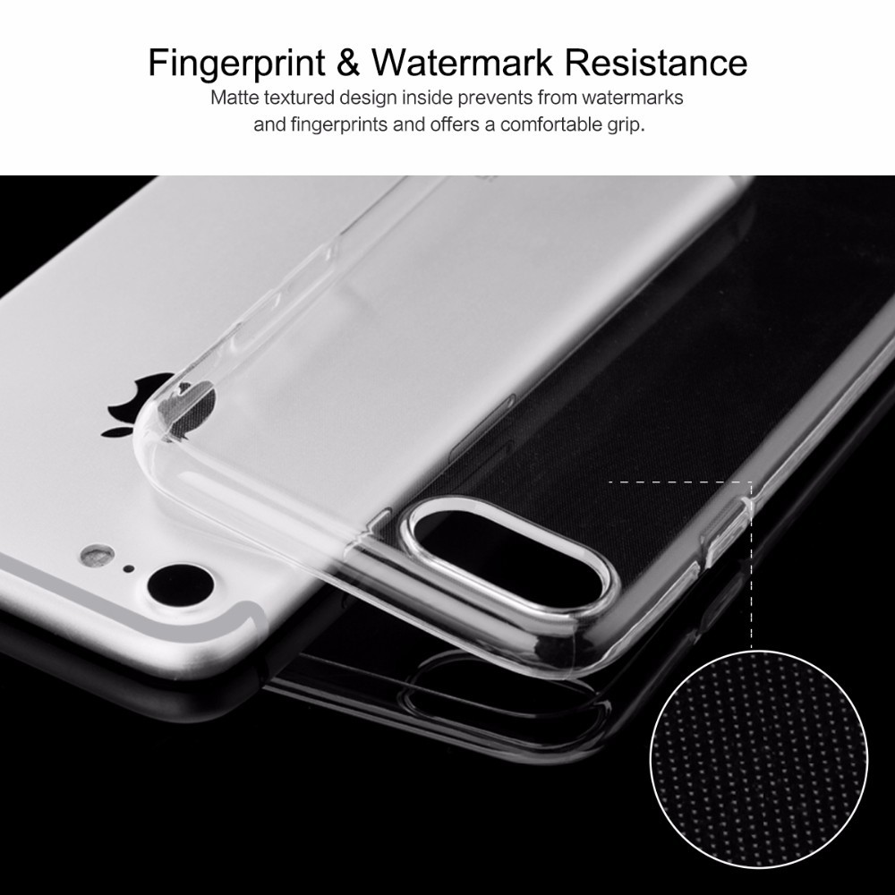Ultra thin transparent TPU mobile phone case for iphone7