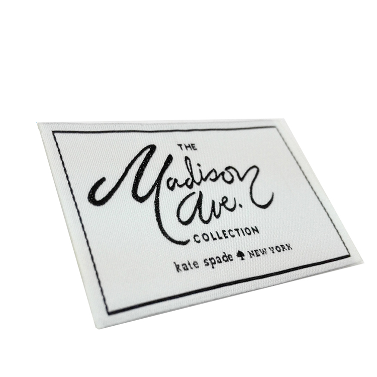 Custom Brand Garment Accessories Satin Polyester Garment Woven label Neck Main Labels, Follow pantone color chat