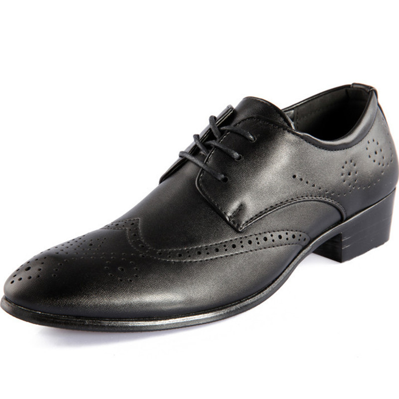 Hot Sale 2015 Oxford Shoes For Men Dress Shoes PU Leather Spring Breathable Massage Zapatos Masculinos Oxford Black Szie 7-9.5