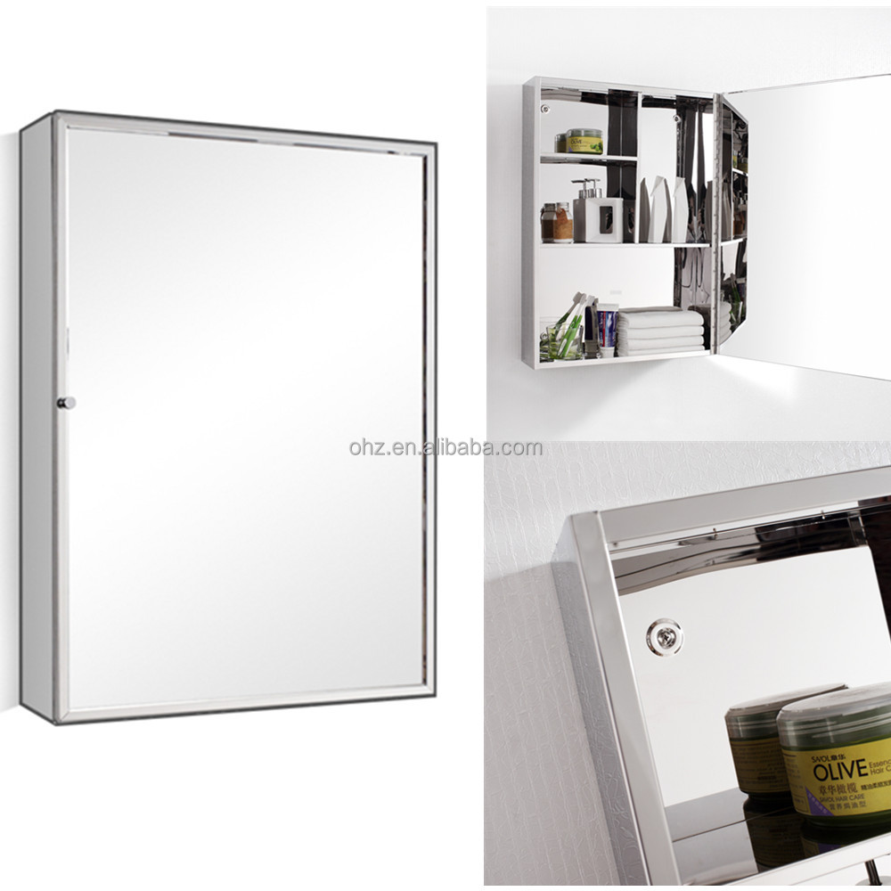 Modern hotel design used stainless steel bathroom toilet mirror cabinet