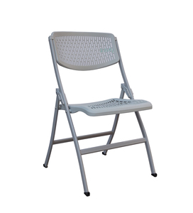 cheap used resin plastic folding study chair with writing pad
