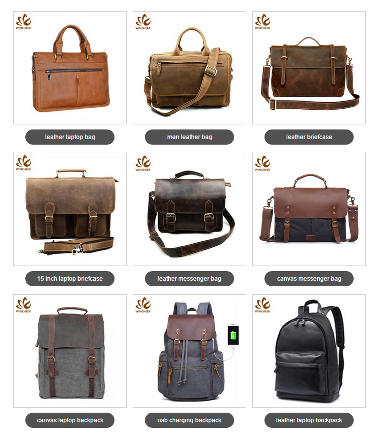 2019 Hot selling shoulder vintage laptop messenger bag mens genuine leather briefcase