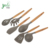 Kitchen Utensil Set with Silicone Cooking Tools and Bamboo Handles