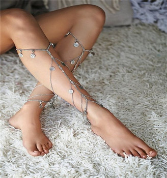 Women Anklets Bohemia Style Beach Multilayer Boho Ethnic Foot ...