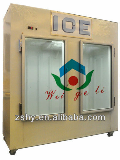 Bagged Ice Merchandiser for Outdoor Use with Cold Wall System