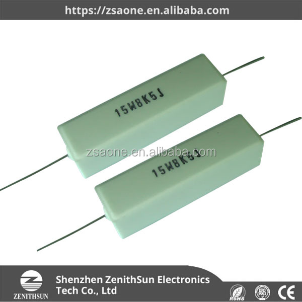 uxcell Nonflammable 25W Watt 10K Ohm 5/% Ceramic Tube Resistor