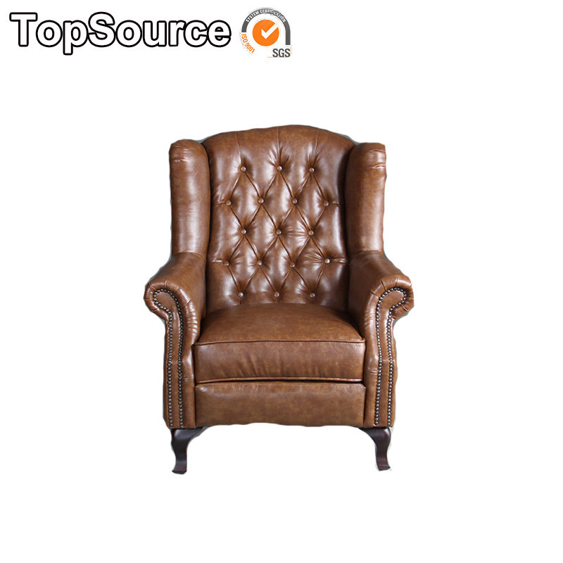Vintage Leather High Back Sofa Chair
