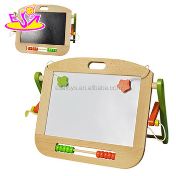 Magnetic Dry Erase Wooden Kids Whiteboard With Double Sided W12b059