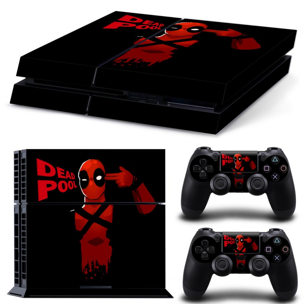 Free Ps3 Console: Free Shipping Marvel Deadpool Ps4 Skins For Sony