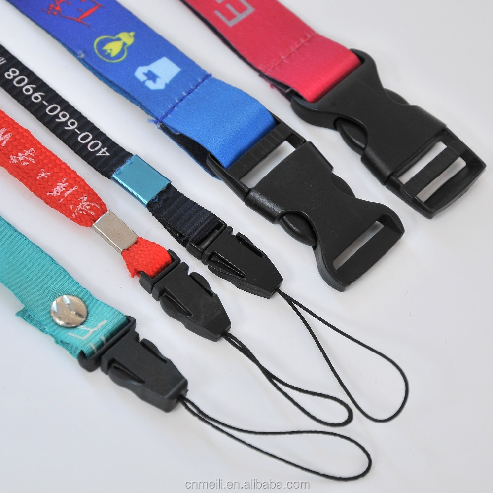2018 promotional lanyards with detachable buckle