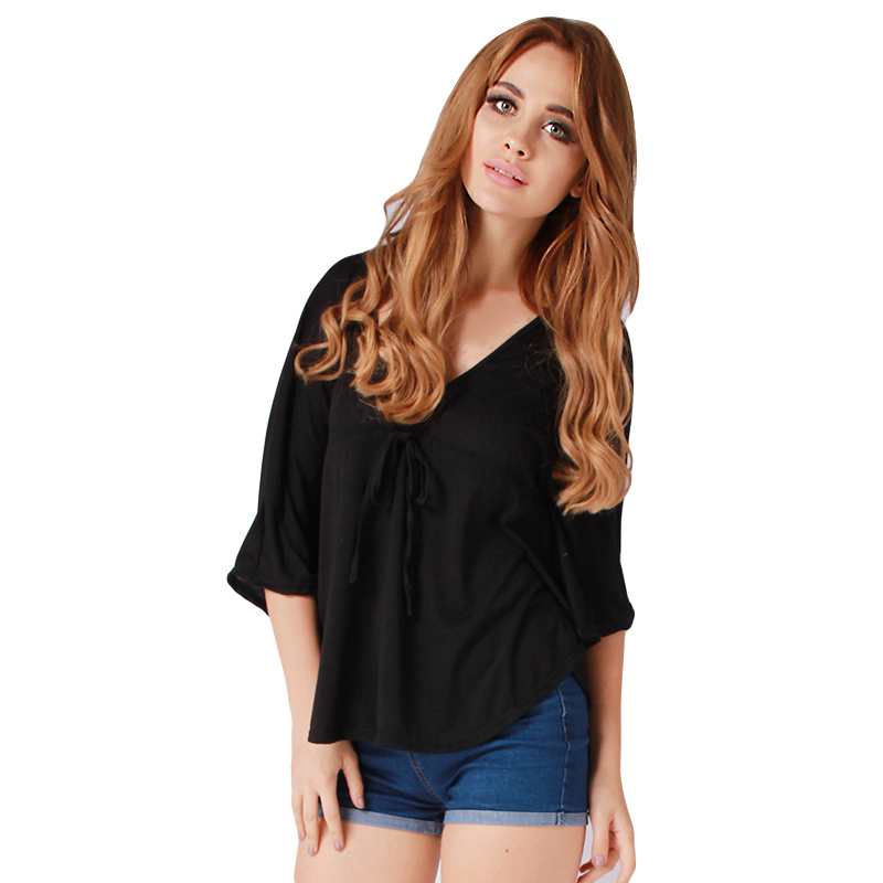 71a8e8305d3ac4 Get Quotations · 2015 Autumn Black Loose Oversized T-shirts Tops Newest  Women Batwing Sleeve Casual Tees T