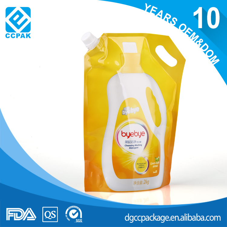 Household detergent stand up pouch bag