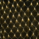 LED Net Mesh Fairy String Decorative Lights 200 LEDs 9.8ft x 6.6ft Tree-wrap Warm White Lights for Christmas Outdoor
