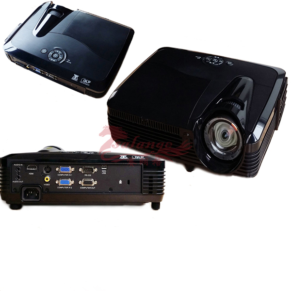"300"" shutter 3D data show dlp outdoor projector for business,education, home,camping trip use"