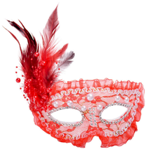 2019 mode carnaval <span class=keywords><strong>halloween</strong></span> party lace half gezicht veer maskerade masker