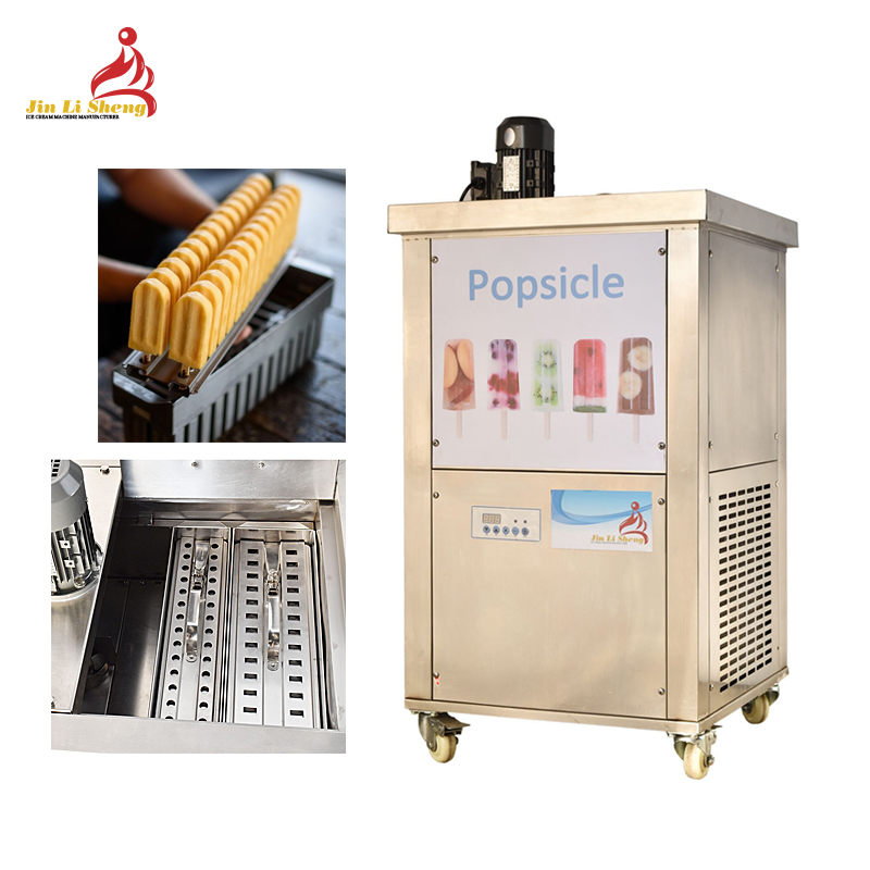 4 Molds Commercial Ice Candy Stick Ice Cream Bar Popsicle Making Machine Ice Popsicle Machine With Stainless Steel Popsicle Mold