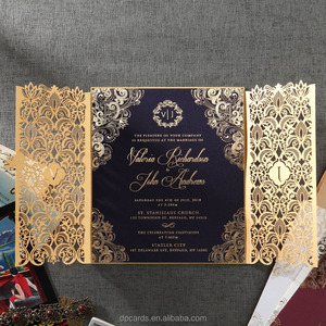 Luxurious wedding invitation card with affordable price