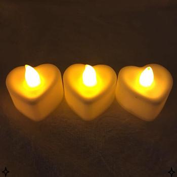 Birthday New Design Candle Led Heart Shape Warm Light Candles