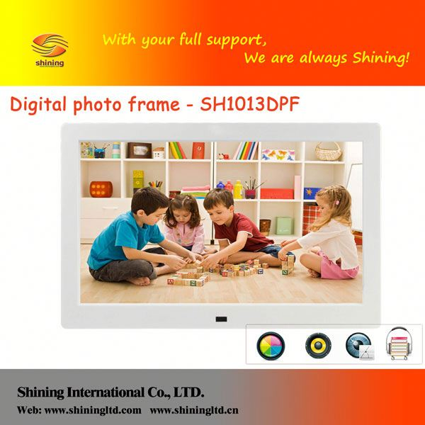 SH1013DPF sd/ ms/mmc/usb lcd led digital picture frame 10.4