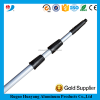 Stable quality extension poles aluminum window cleaning telescopic poles