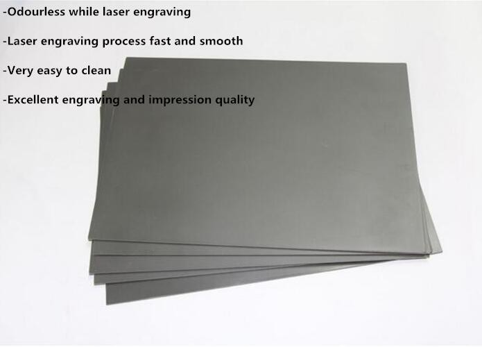 Laser engraving odorelees stamp rubber sheet A4 size 297*210*2.3mm laser rubber sheet