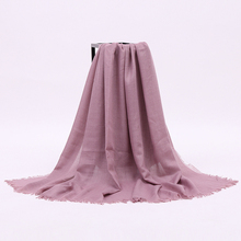 Bulk Lady Solid Color Oversized Square Viscose Hijab Scarf