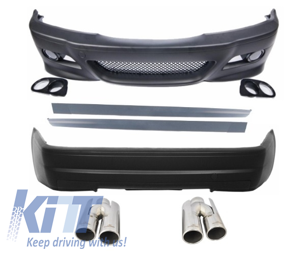 Complete Exterior Body Kit E46 (98-05) 3 Series 2D Coupe Cabrio M3 CSL Design with Exhaust Muffler Tips ACS-design