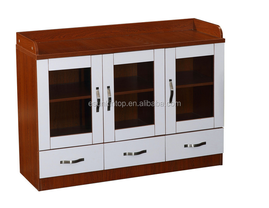 Wooden Lockable 3 Drawer Office File