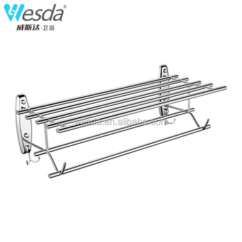 Wesda Made In China Stainless Steel Shelf Towel Rack Bathroom A082