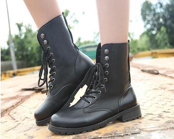 b5fb5db131b9 Весенне-осенняя женская обувь из натуральной кожи модные женские Ботинки  martin
