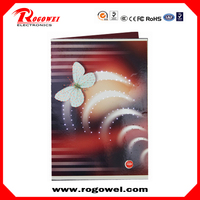 With quality protection christmas photo card with optic lights