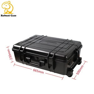 IP67 Waterproof Shockproof hard equipment case plastic carrying trolley case