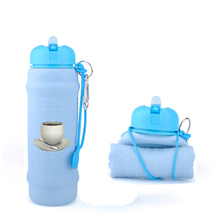 Eco Friendly High Quality Silicone Collapsible Sport Water <strong>Bottle</strong> For Gym